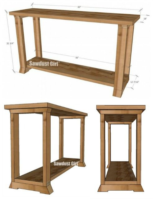 Two-Tone Console Table