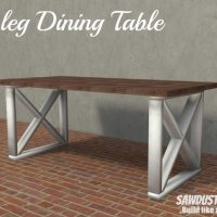 X leg dining table - free and easy project plans from https://sawdustgirl.com.