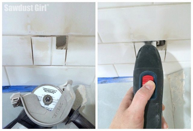 How to cut a hole in a tile backsplash