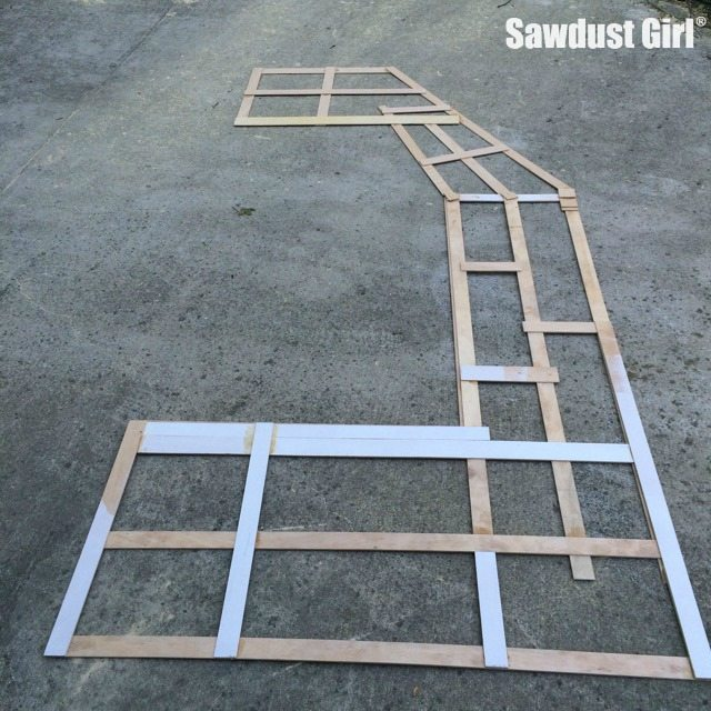 building a wood countertop with mitered corners and angles sawdust girl. Black Bedroom Furniture Sets. Home Design Ideas