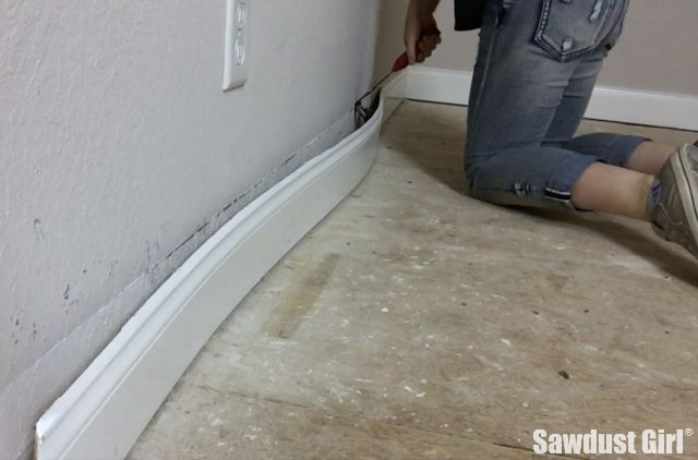 Easily remove baseboards without damaging your walls.