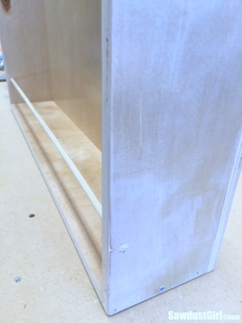 vertical drawer with dowel