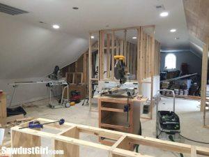 Extending stair walls