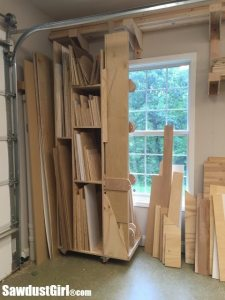 Vertical Storage Lumber Cart