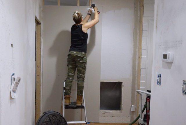 Sheetrocking new walls