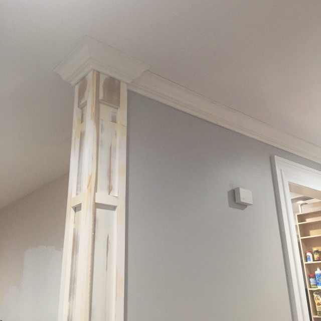 Decorative column and crown moulding day 27 sawdust girl for Crown columns