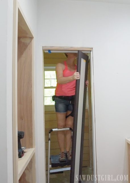 Installing doors and door casings