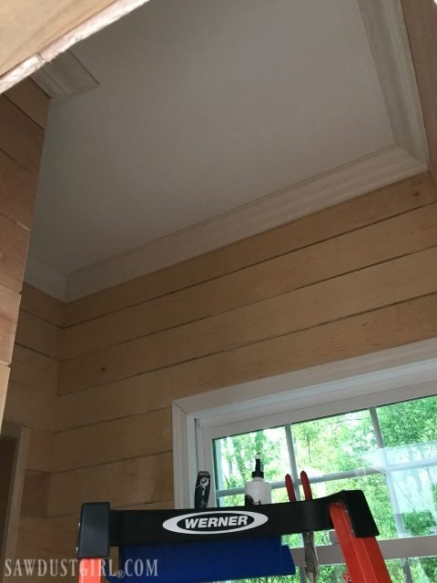 Plywood plank walls