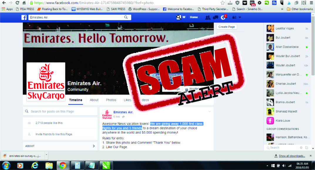 'Emirates Air' Free Flight Tickets Scam Again Hitting Facebook