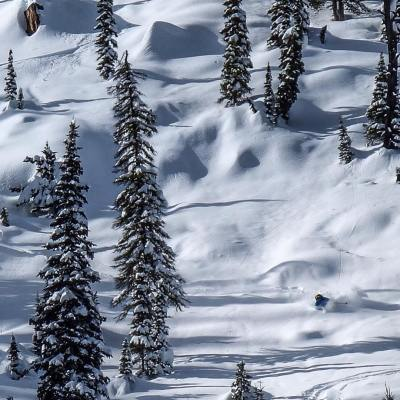 Steep, deep, and stable. The epic winter continues. Photo by @tanner.haskins