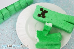 Home made Creeper Marshmallows