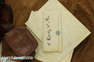 DIY Aged Paper - Easy and printable with no ovens or scorching! | saynotsweetanne.com | #diy #halloween #paper #renaissance #aged #weathered