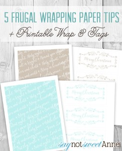 DIY Printable gift wrap and tags