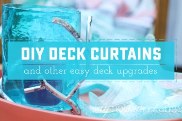 DIY Deck Curtains. Extend your existing deck posts to hold beautiful and luxurious curtains! Plus plenty of bonus deck makeover ideas. | saynotsweetanne.com
