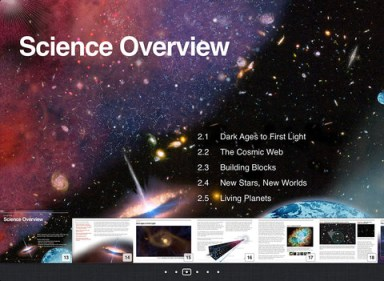 iPad E-book screenshot (Credit: NASA / Hubblesite)