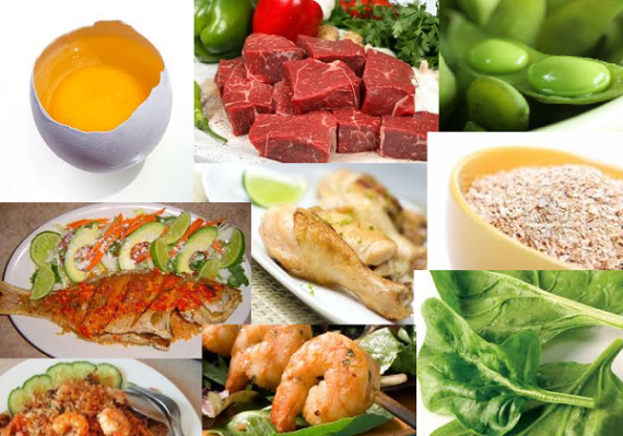 Foods rich in choline and/or betaine