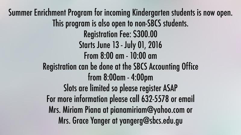 Kinder Enrichment Program notice v2