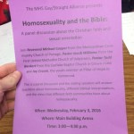 The Bible and Homosexuality — A Panel Discussion