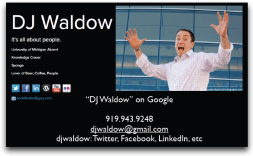 DJ Waldow Business Card