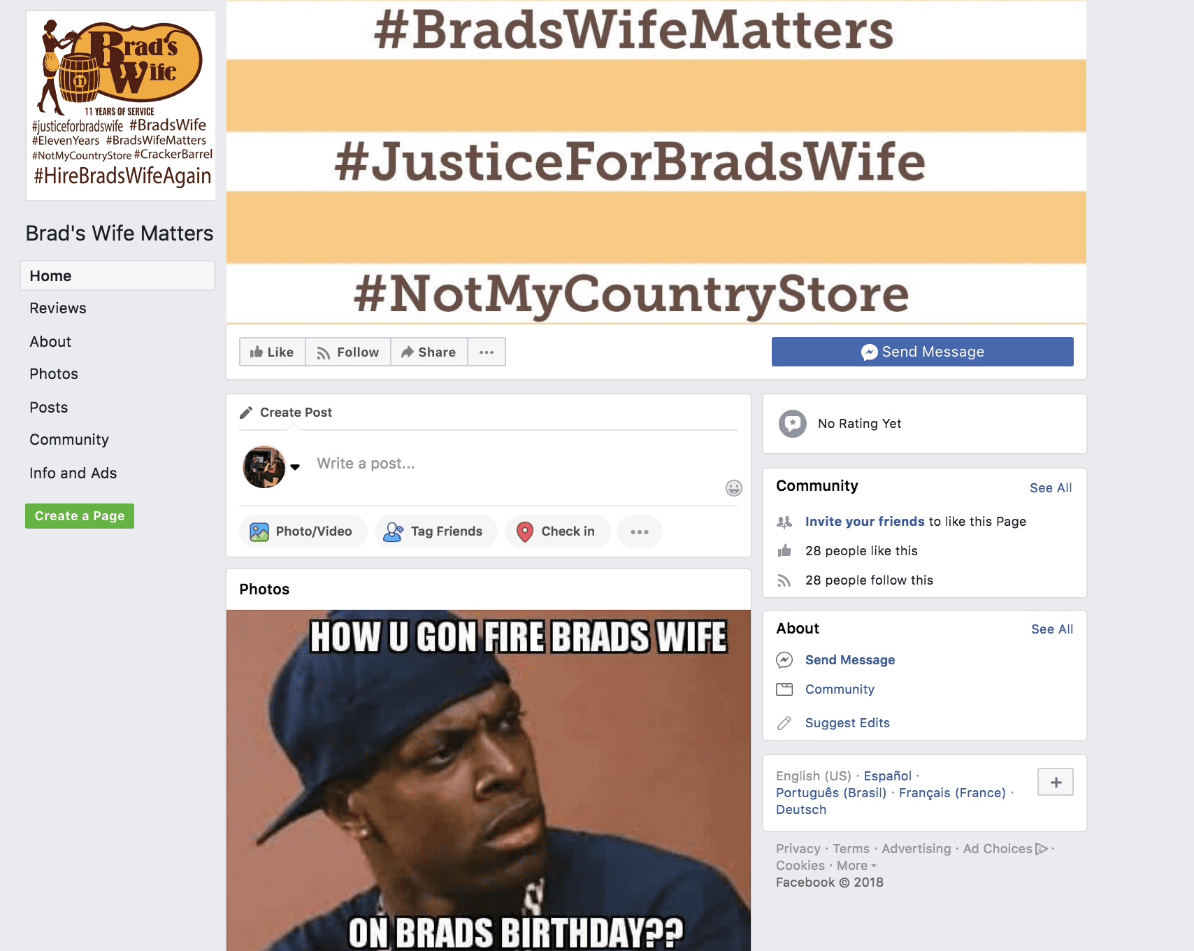 Enthralling Wife Matters Wife Matters Man Asks Cracker Barrel Why Y Fired His Wife Cracker Barrel Brad S Wife Twitter Cracker Barrel Brad S Wife Answer nice food Cracker Barrel Brads Wife