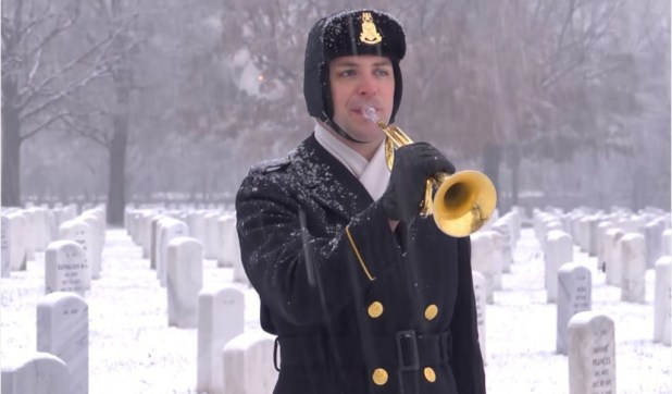 Taps Performed in Arlington National Cemetery - 3