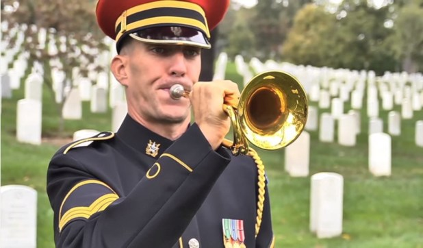 Taps Performed in Arlington National Cemetery - 1