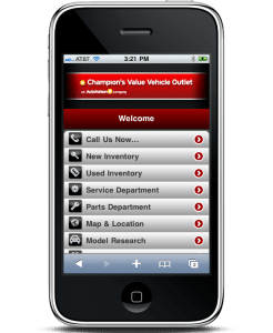 mobile home page design
