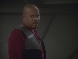 "Captain Sisko's (Avery Brooks) monologue following the events of ""In the Pale Moonlight"" is Guida's favorite scene in Star Trek: Deep Space Nine.  (Video capture: CBS Television, Inc.)"