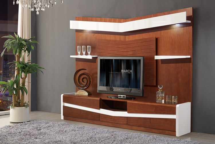 2017 living room wooden furniture chinese tv stand cabinet designs unit hall