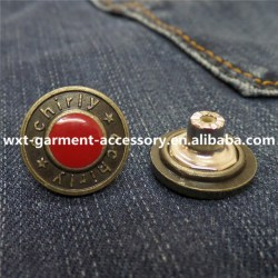 B 10 Metal Buttons for Furniturechina Jeans Button for Saleeco