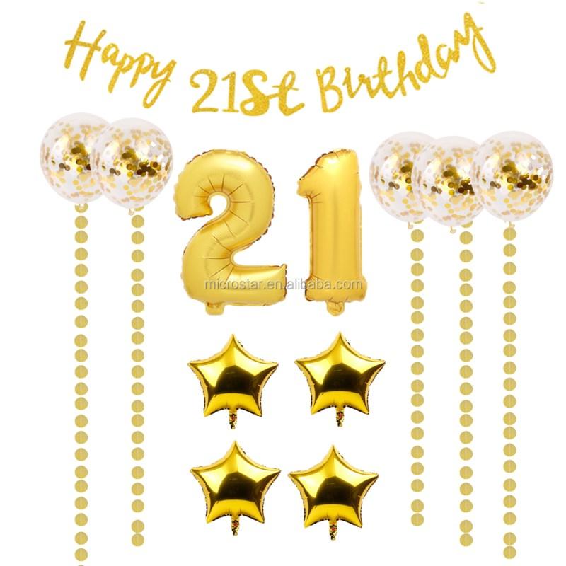 Large Of 21st Birthday Decorations