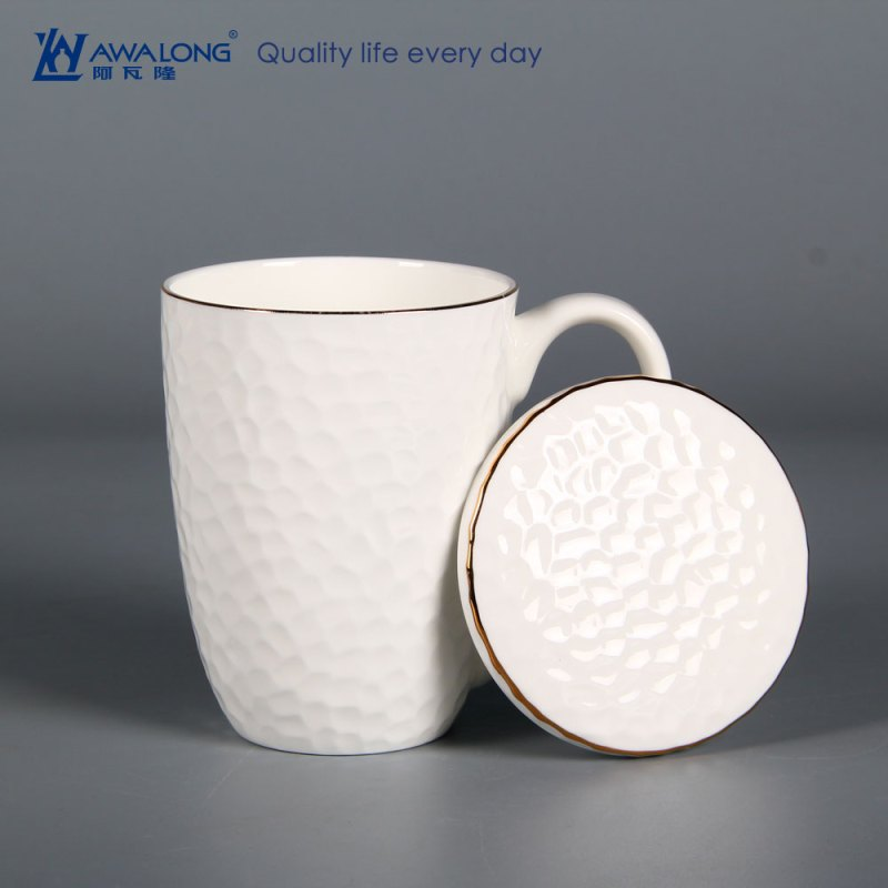 Large Of Porcelain Coffee Mug With Lid
