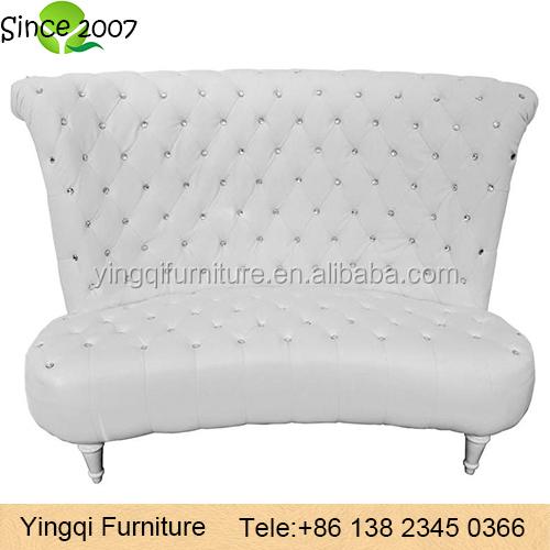 White Diamond High Back Loveseat Wedding Sofa High Back Loveseat61