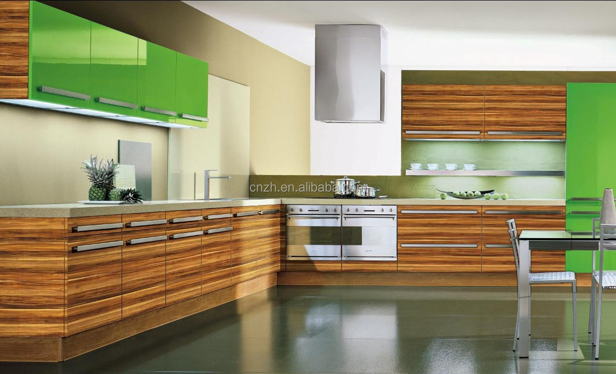 High end fiber woodgrain laminated kitchen cabinet with UV painting factory price directly high end kitchen cabinets High end fiber woodgrain laminated kitchen cabinet with UV painting factory price directly