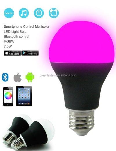 New Advanced Smart Led Light Bulb 7.5w Bluetooth Rgbw Led Bulb - Buy E27 Bluetooth Led Bulb,4.5w ...