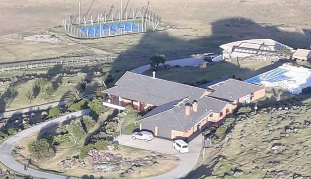 Vista aérea de la propiedad del sindicalista argentino en Playa Verde. Foto: Interpol/Ministerio del Interior