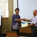 Memento given by ITB SC AAPG President to Mr. Awang Harun Satyana (SKK Migas)
