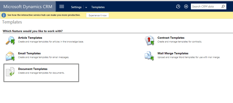 Document Generation in dynamics crm 2016