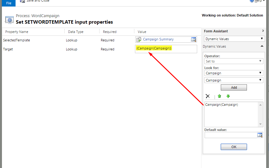 auto generate word template in dynamics crm 2016 and attach in email