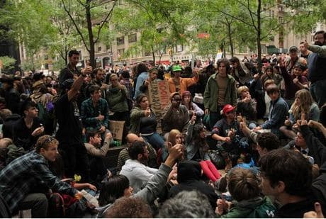Occupy Wall St  Rebel with a cause; suddenly youth who don't care about celebrity and fame, but will this consciousness have legs?