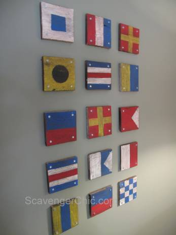 DIY  Pallet Signal Flags Wall Decor
