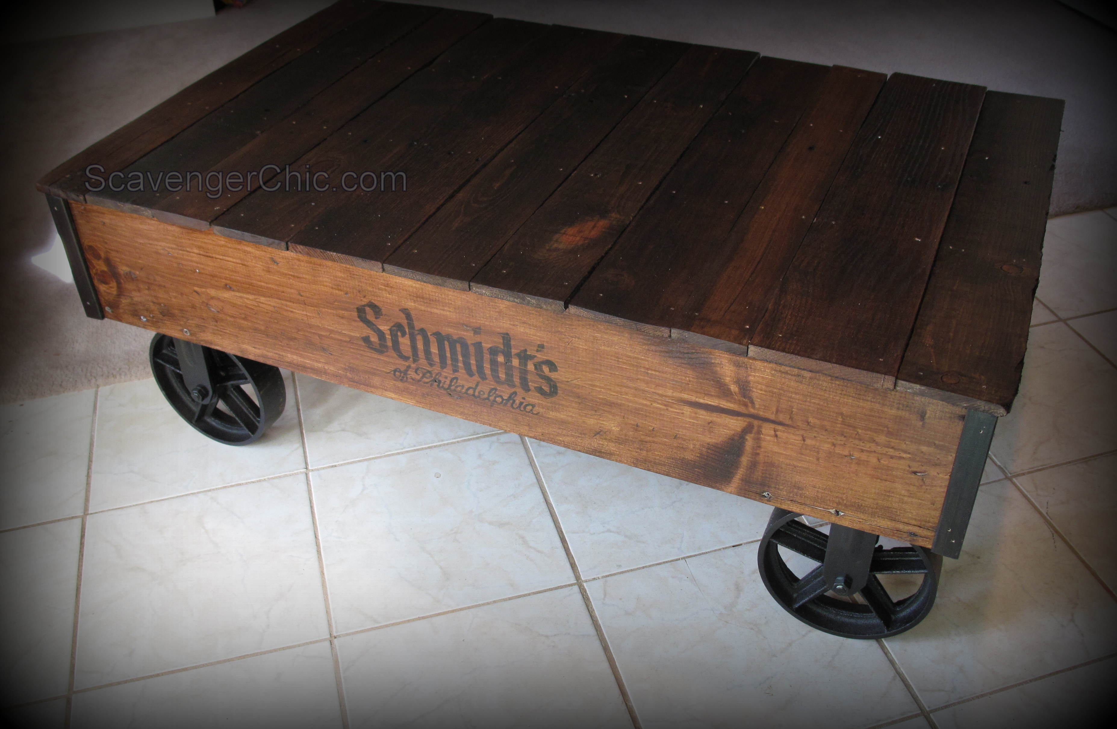 Pallet Coffee Table DIY Scavenger Chic