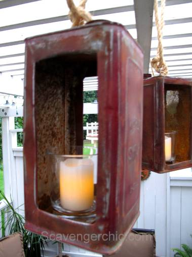 Upcycled, Recycled, Repurposed Maple Syrup Can Lanterns/ Lighting