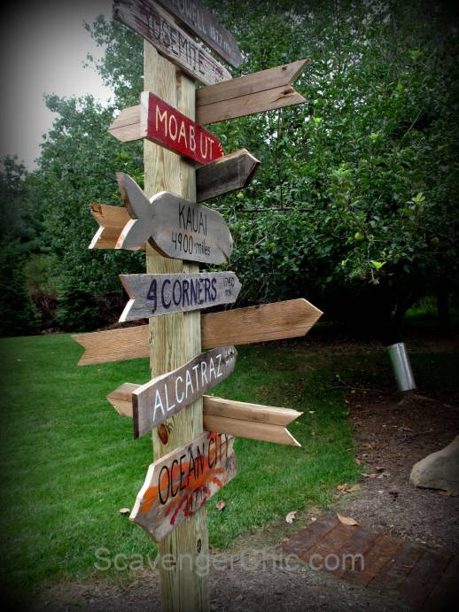Pallet Wood Sign Post DIY