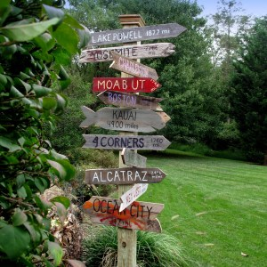 Pallet Wood Sign Post