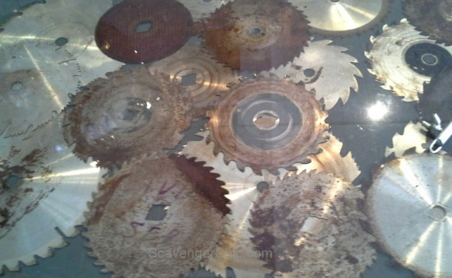 Saw blade table top