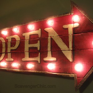 Pallet Wood Open Sign
