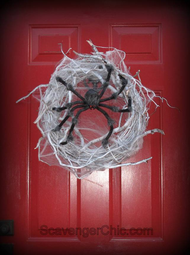 Spider Halloween Wreath diy