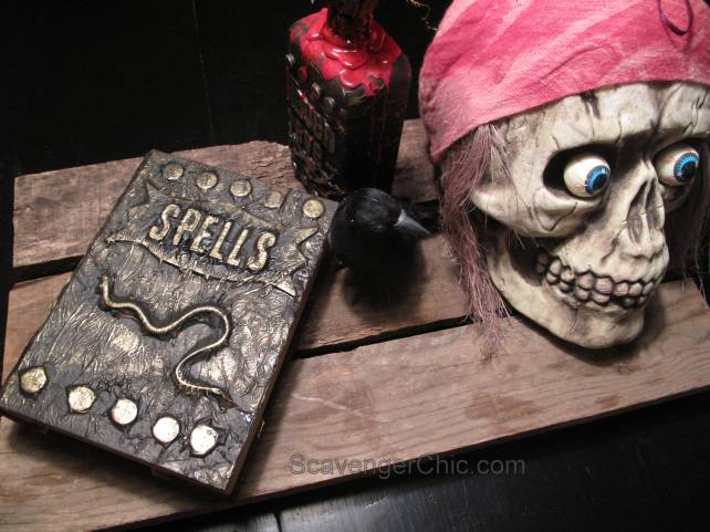 Halloween Spell book and Apothecary Jar diy