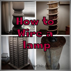 How to wire a homemade Lamp